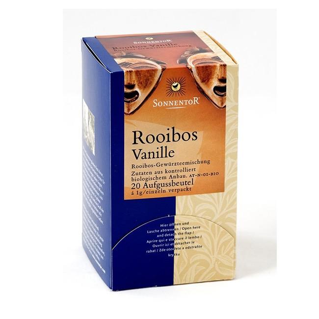 Sonnentor Bio Rooibos Tee mit Vanille im Teebeutel