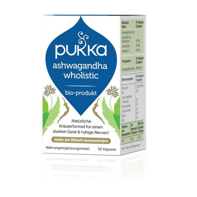 Pukka : Ashwagandha Wholistic™ Kapseln, bio (30 Stk)