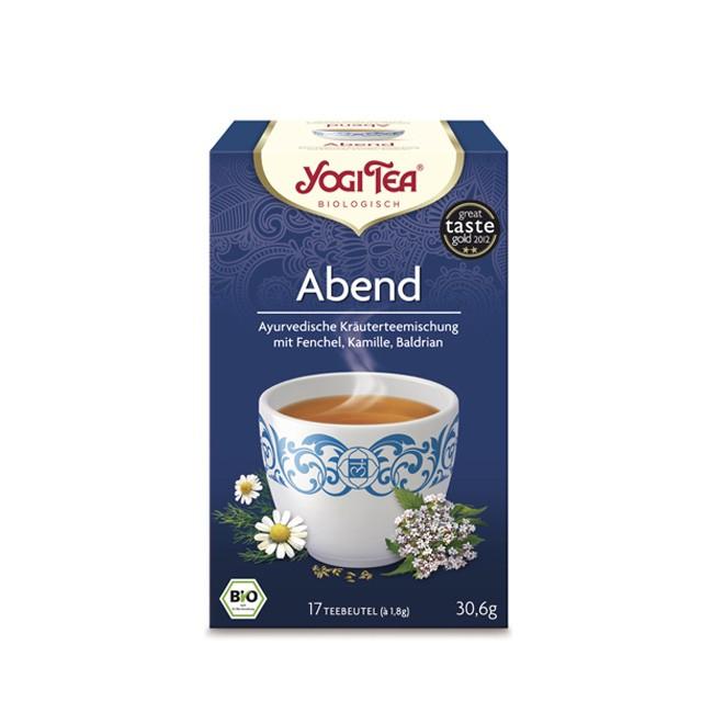 Yogi Tea Abend Tee mit Lavendel und Baldrian in Bio Qualität