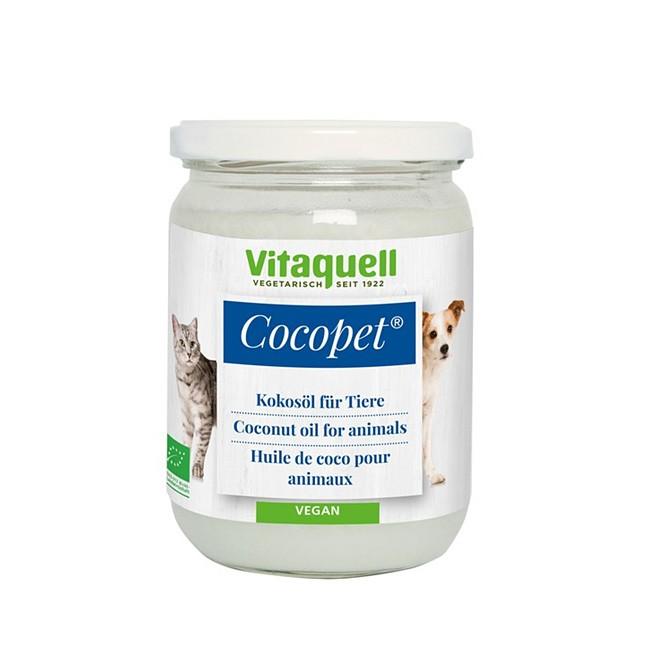 Cocopet Bio Kokosöl für die Fellpflege an Haustieren von Vitaquell