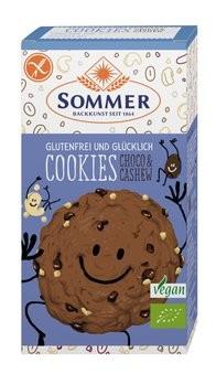 Sommer : Glutenfreie Cookies Choco & Cashew, bio (125g)