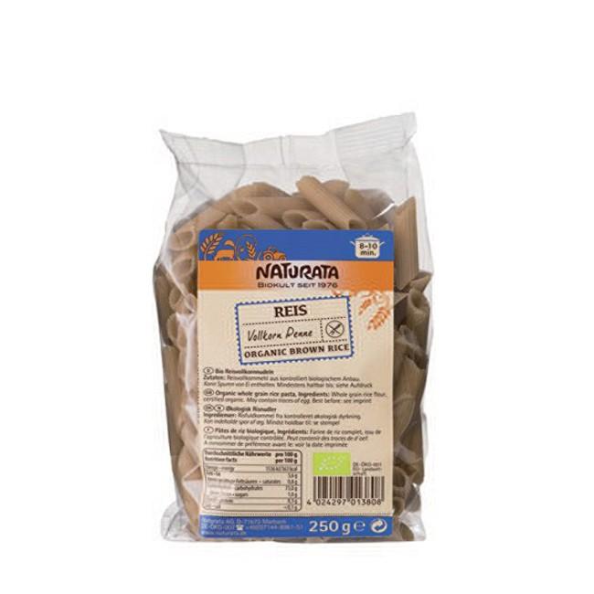 Vollkorn Reis Penne von Naturata Bio Produkt geeignet für Salate und Pasta