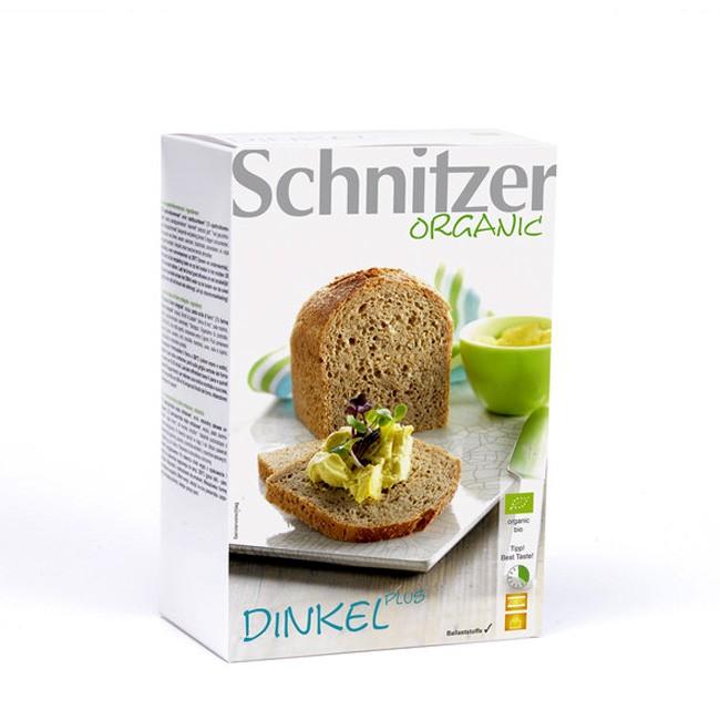 Schnitzer Dinkel Plus Brot glutenfrei Bio Zutaten ohne Gluten mit Dinkelvollkornmehl und Kartoffelflocken
