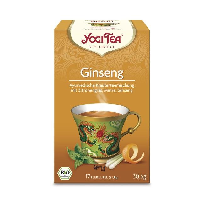 Ginseng Tee in 17 Teebeuteln von YOGI Tea - reine Zutaten ohne Aromazusatz