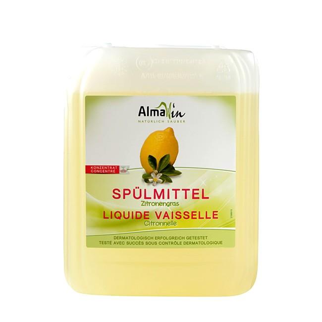 Öko Spülmittel mit Zitronengras von AlmaWin im 5l-Kanister - Nachfüllpack