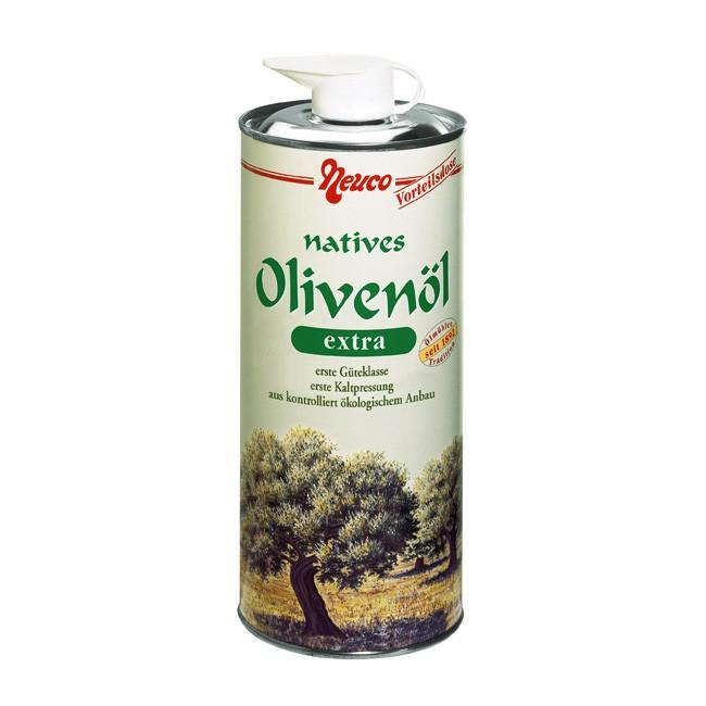 Natives Bio Olivenöl von Neuco / Cenovis in der praktischen 750ml Dose