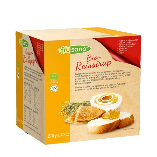 Frusano Bio Reissirup 3,5kg - glutenfrei, fruktosearm