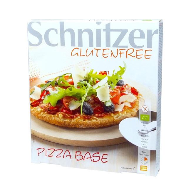 Glutenfreier Pizzaboden Pizza Base von Schnitzer zu 100g je Boden in der praktischen 3er Packung Bio Zutaten