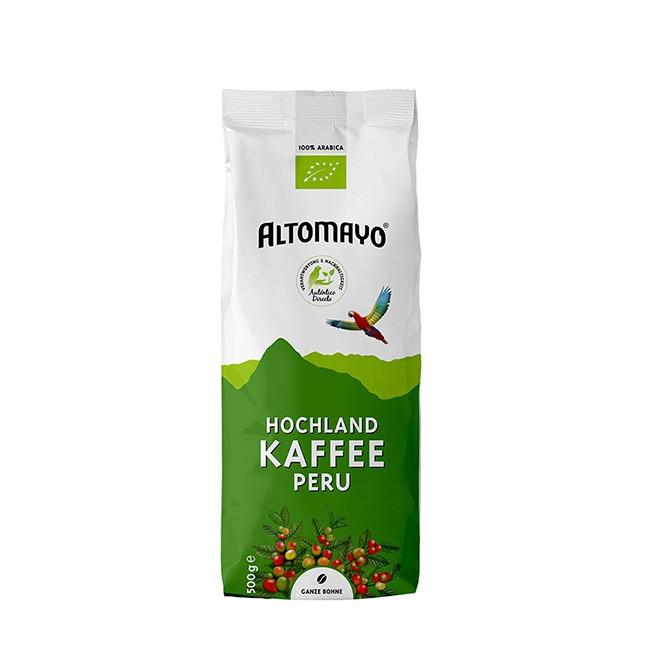 Bio Hochland Kaffee Bohnen von Altomayo (500g) - peruanische Landwirtschaft - säurearm