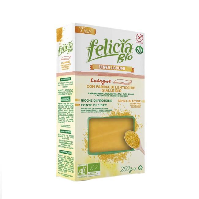 Lasagne Platten aus gelben Linsen und Vollkornreis von Felicia - Bio, glutenfrei, vegan, kosher