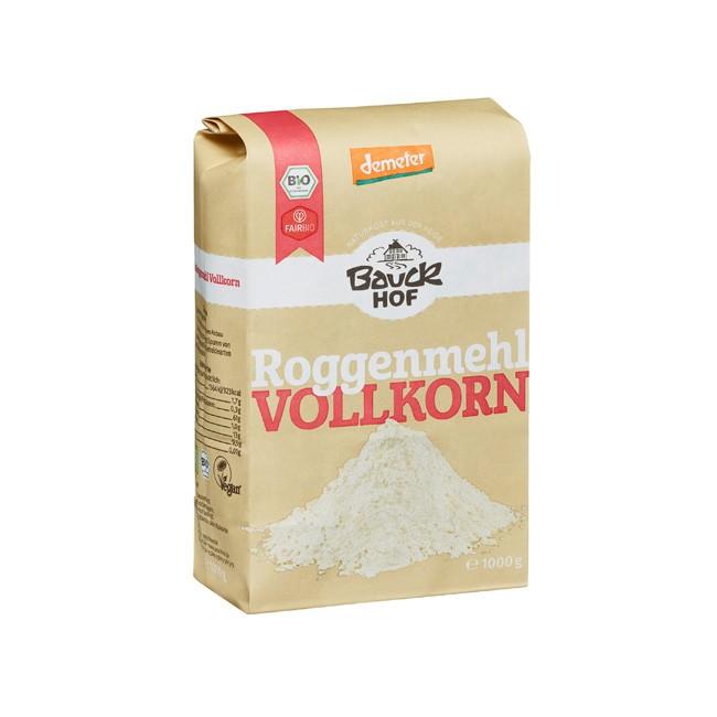 Bauckhof Vollkorn Roggenmehl 1kg Demeter Qualität