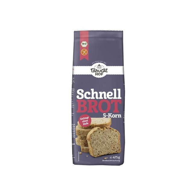 Bio Brotbackmischung Schnellbrot-5-Korn (475g)