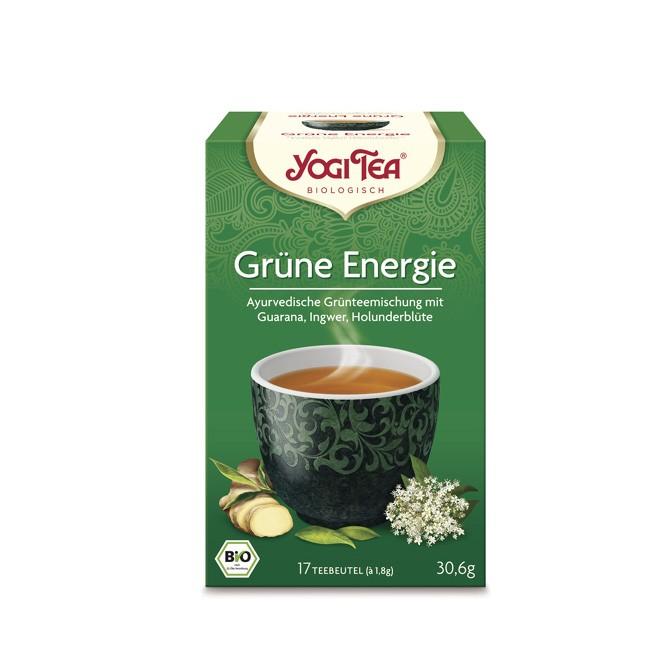 Vitalisierender Bio Grüner Energie Tee von Yogi Tea in 17 Beutel