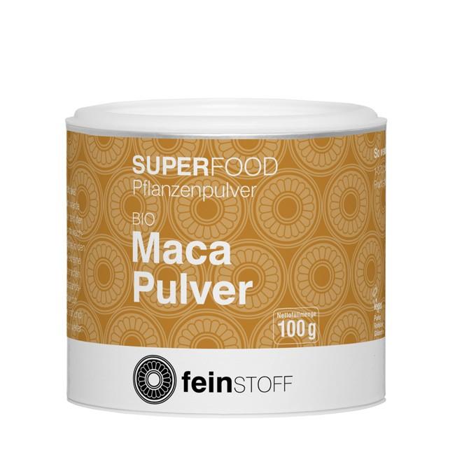 Feinstoff Maca Smoothie Pulver in Bio Qualität 100g-Dose