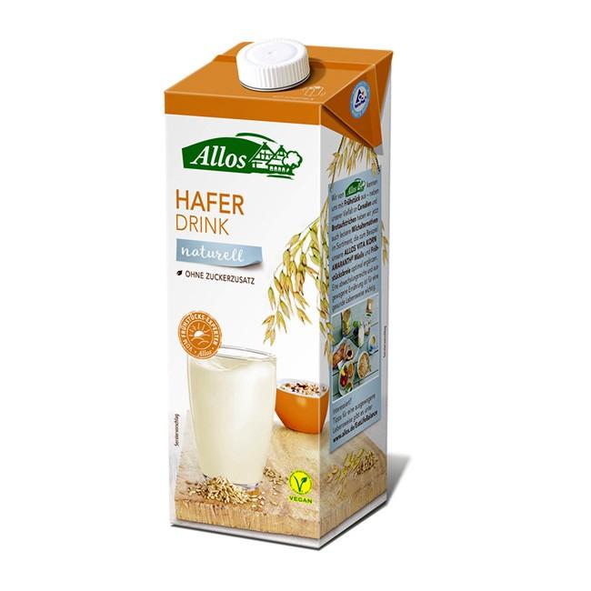 Allos Haferdrink ohne Zucker in Bio Qualität
