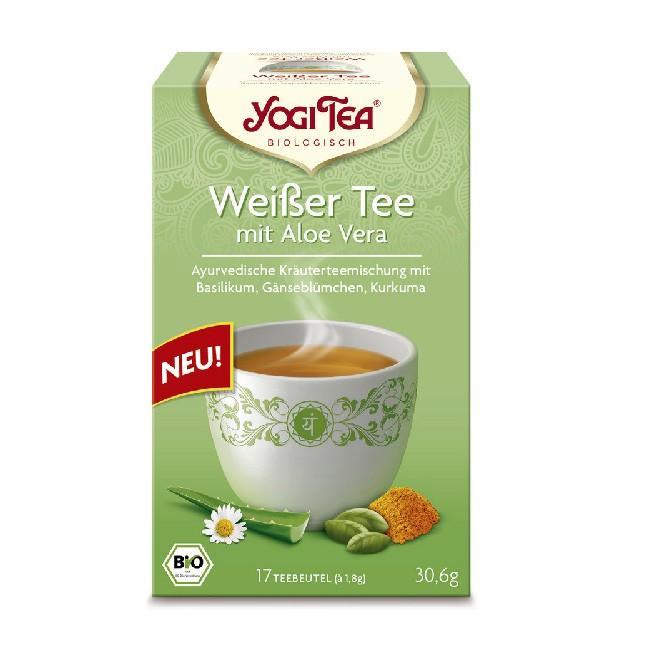 Weißer Bio Tee Aloe Vera - 17 Teebeutel von Yogi Tea