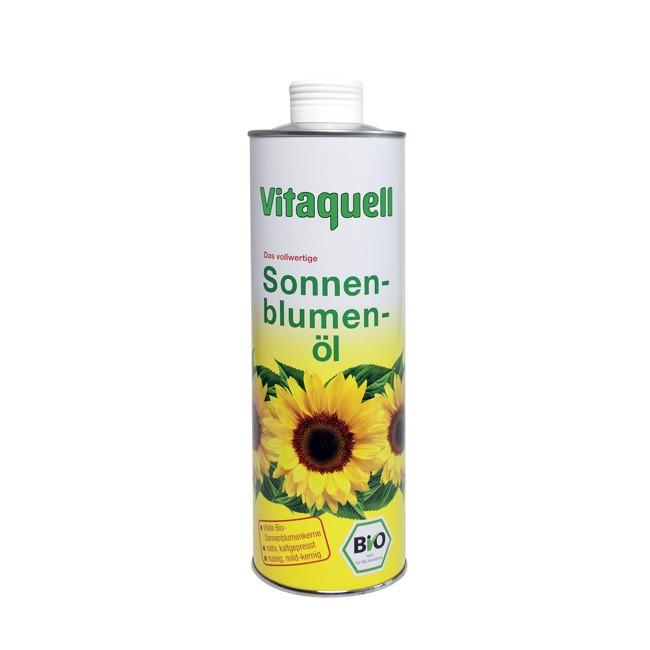 feinstes Bio-Sonnenblumen-Öl reich mit Vitamin E von Vitaquell 750ml