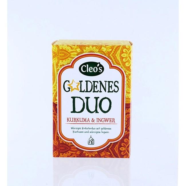 Cleo's Goldenes Duo Biologischer Tee (18 Beutel)