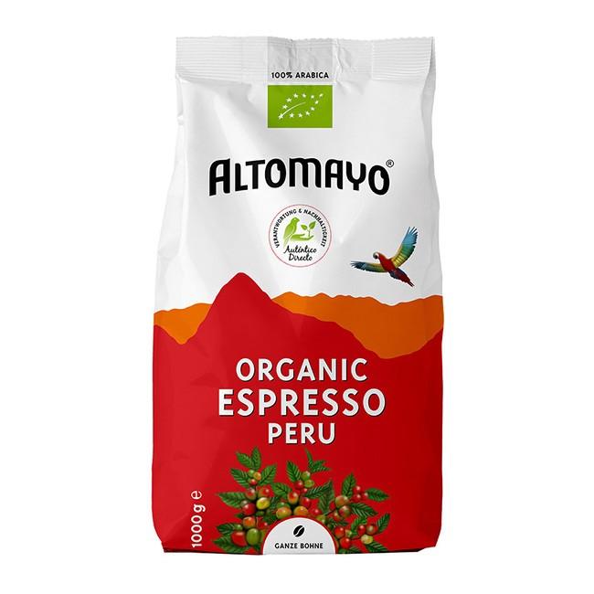 Bio Espresso Bohnen 1000g von Altomayo