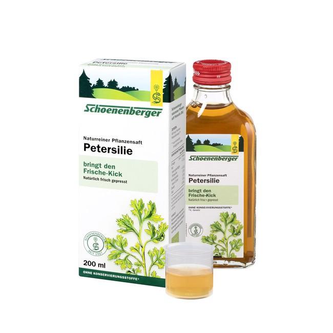 Schoenenberger Naturreiner Heilpflanzensaft Petersilie, bio (200ml) fördert die Durchblutung der Harnwege