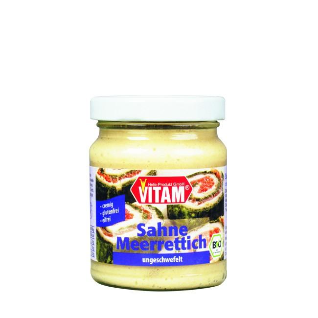 Vitam's Sahne Meerettich mit bio Zutaten im 115g Glas für Salate und Dressings