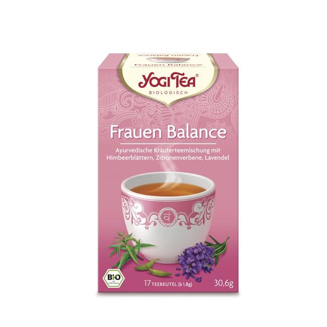 Yogi Tea Frauen Balance Tee mit fruchtigen Himbeerblättern und Lavendel Zitrone, Kardamom und Nelken ohne Gentechnik oder Genmodifizierung Ökalandbau streng kontrolliert