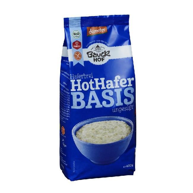 Glutenfreier warmer Vollkorn Haferbrei gelingt mit Hot Hafer Basis von Bauckhof 400g kinderleicht!