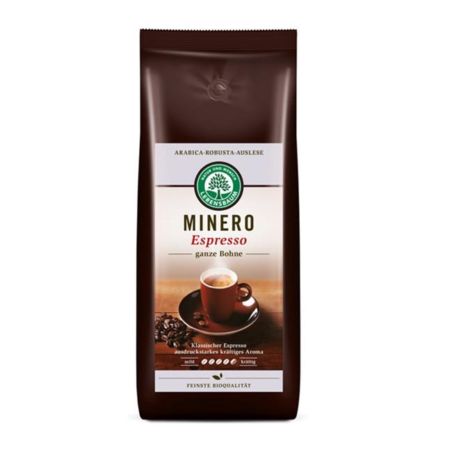 Ganze Bio Bohnen Espresso minero aus Arabica und Robusta 1kg von Lebensbaum