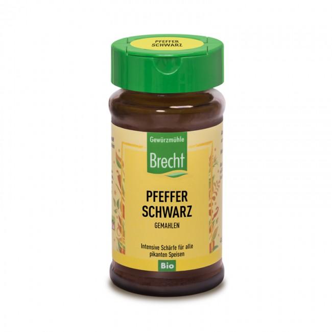 Bio Pfeffer schwarz und fein vermahlen - 40g im Glas