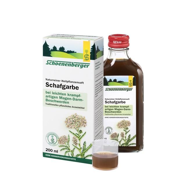 Schoenenberger Natturreiner Heilpflanzensaft Schafgarbe 200ml bio wirkt Magen lindernd
