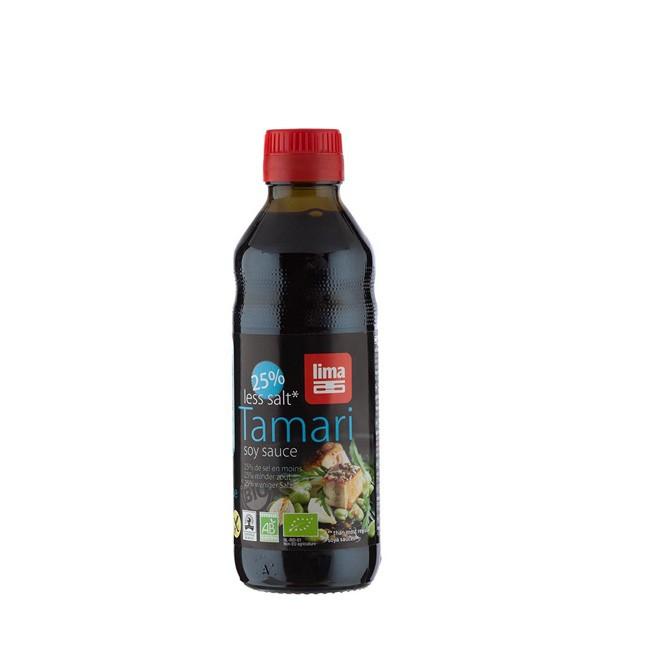 glutenfreie Sojasoße TAMARI mit 25% weniger Salz - Bio von LIMA