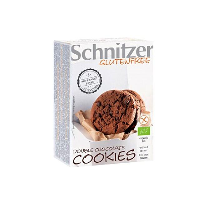 Schnitzer Double Chocolate Cookies - soft und extra schokoladig - BIO und glutenfrei