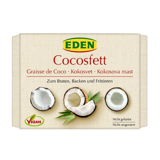 Kokosfett zum Braten von Eden in der 250g Packung