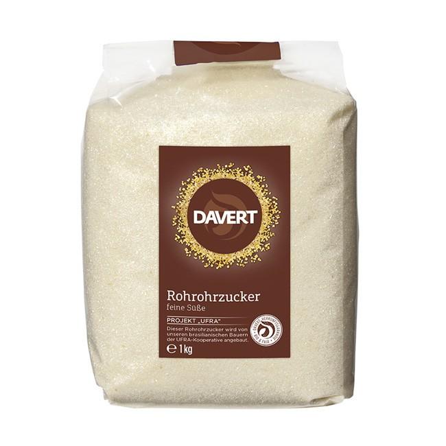 Davert Rohrzucker im 1kg-Beutel - Bio Qualität