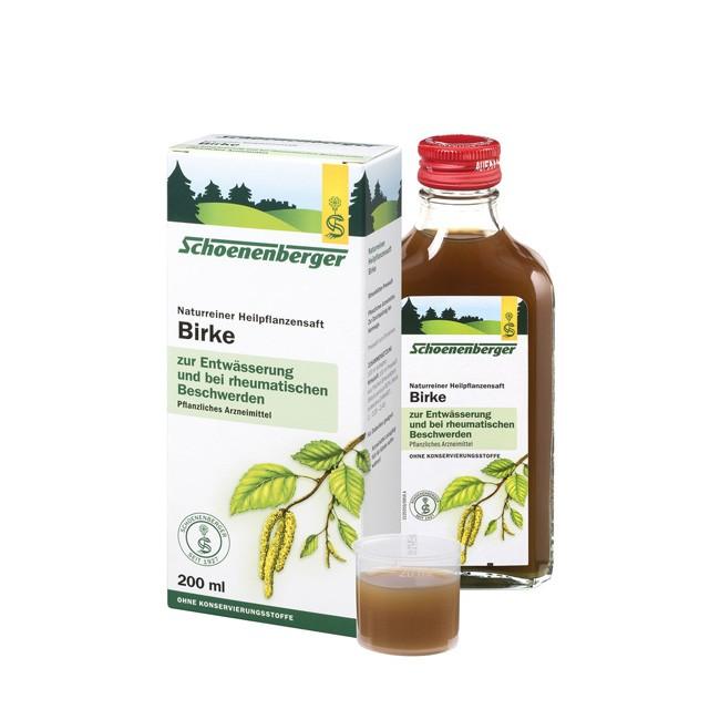 Schoenenberger Bio Birken Heilpflanzensaft wirkt unterstützend bei Harnwegserkrankungen 200ml