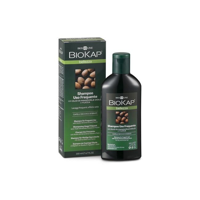 BioKap® Mildes Shampoo für tägliche Haarwäsche mit Süßmandelöl & Yucca 200ml