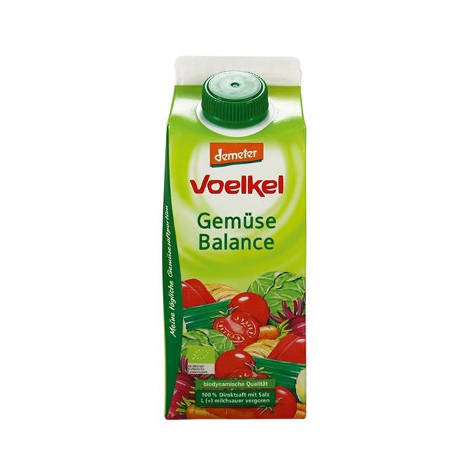 Bio Gemüse Saft von VOELKEL aus frischen Demeter Gemüse im 750ml Pack zum wiederverschließen