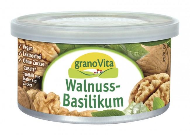 granoVita : Veganer Brotaufstrich Walnuss-Basilikum (125g)