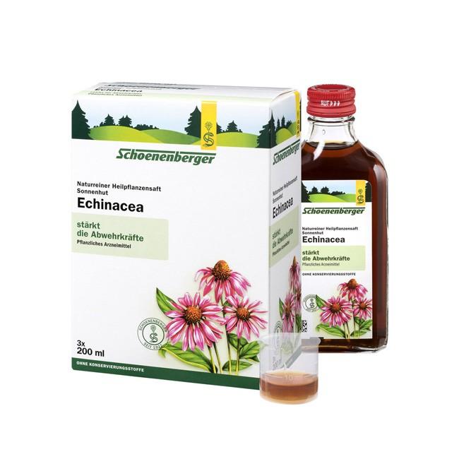 Bio Sonnenhut Echinacea Saft von Schoenenberger ist gut gegen Atemwegsinfektionen ohne Zusatz von Alkohol