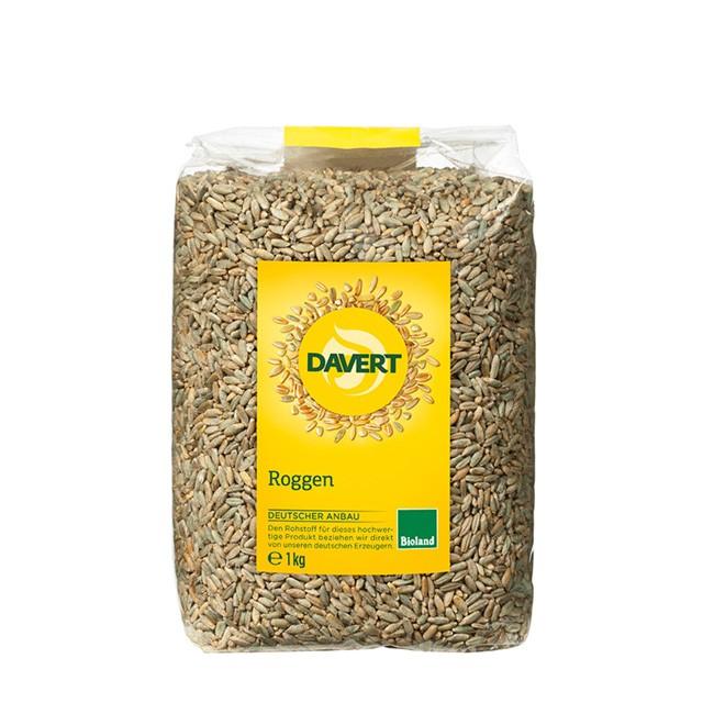 Natur pur: Bio Roggen ganz (1kg) von Davert