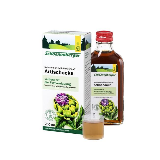 DIe Fettverdauung unterstützen mit Heilpflanzensaft Artischocke von Schönenberger 2