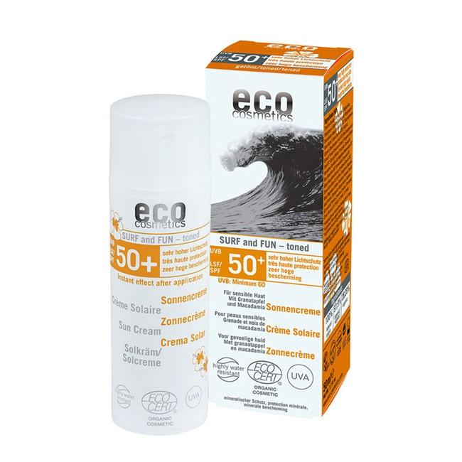 eco cosmetics Spezial Sonnencreme für Wassersport Surf n Fun mit LSF50+