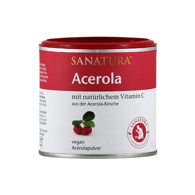 Acerola-Pulver von Sanatura in der 100g Dose