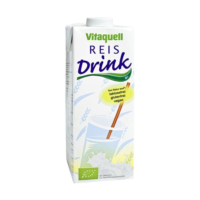 Vitaquell Reisdrink ungesüßt bio 1l vegan lactosefrei Kuhmilch Alternative