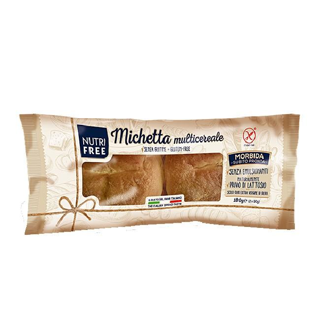 glutenfreie Körnerbrötchen von NUTRIFREE - weiche italienische Michetta