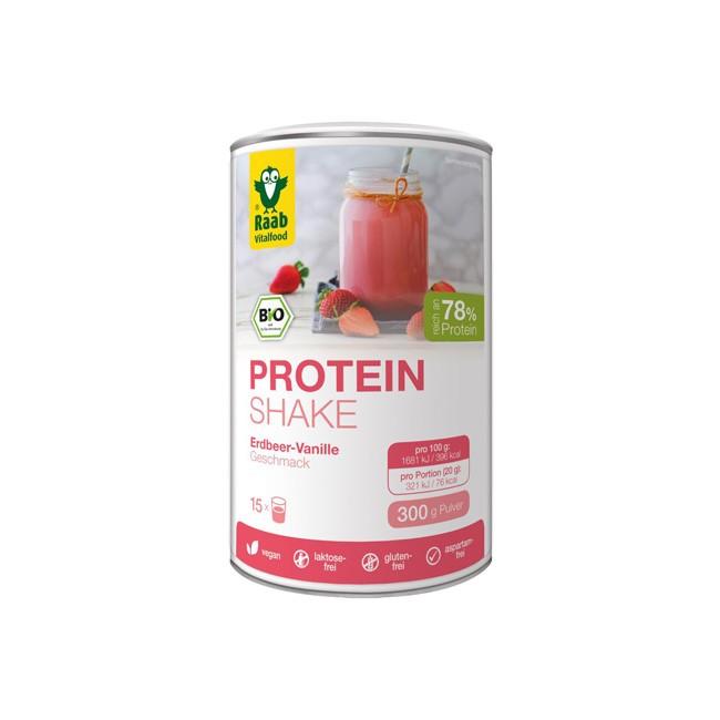 Raab Protein Shake 78 Erdbeer-Vanille bio (300g)