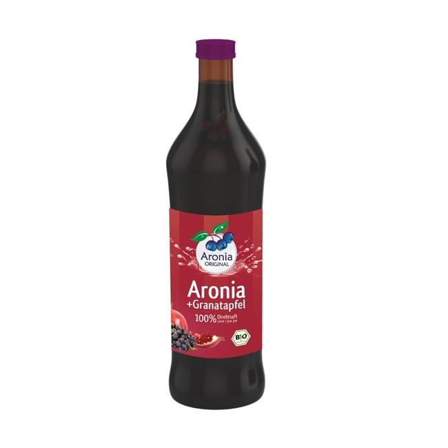 Bio Aronia-Cranberry Direktsaft 700ml Braunglasflasche - Aronia ORIGINAL