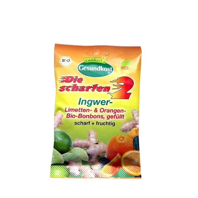 Liebhart's Bonbons Die scharfen 2 mit Ingwer Limette und Ingwer Orange, fruchtig scharf