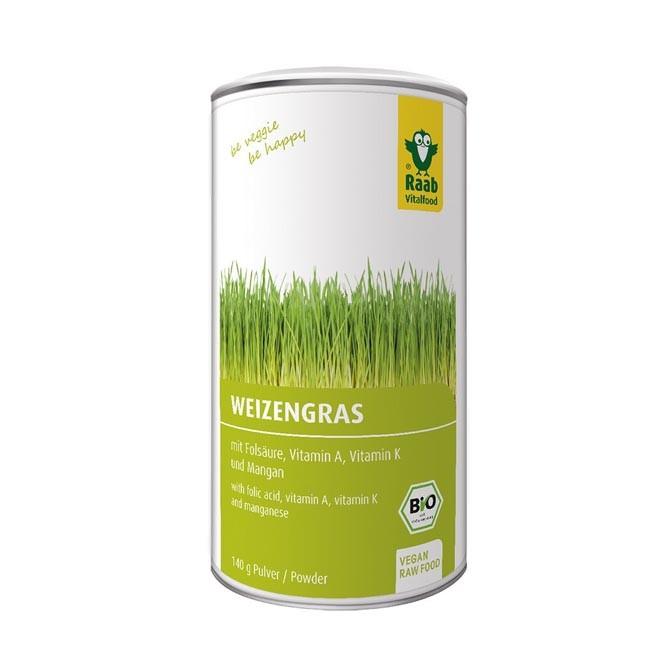 Raab : Weizengras Pulver, bio (140g)