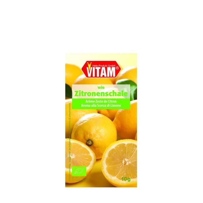 Vitam Zitronenschalen Aroma wie echte Zitronenschale bio vegetarisch 10g Packung
